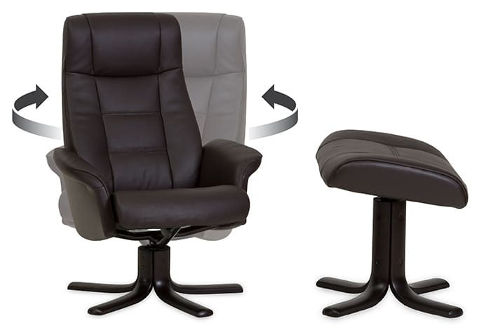 Sari von IMG Comfort - Relaxsessel mit Hocker | Merz Couch