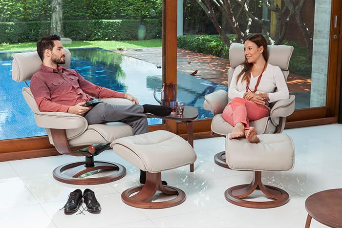 Bergen Sessel von IMG Comfort - Relaxsessel mit Hocker   Merz