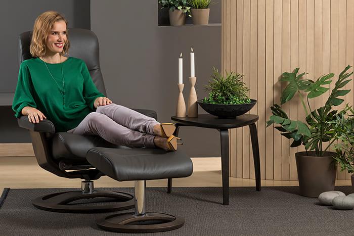 Golf Sessel von IMG Comfort - Relaxsessel mit Hocker   Merz