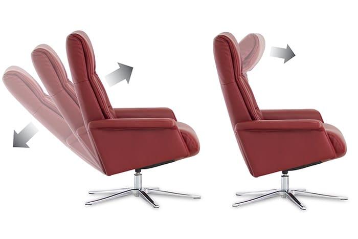 Lilly Sessel von IMG Comfort - Relaxsessel mit Hocker   Merz Couch