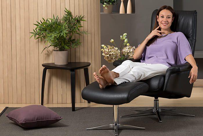 Lilly Sessel von IMG Comfort - Relaxsessel mit Hocker