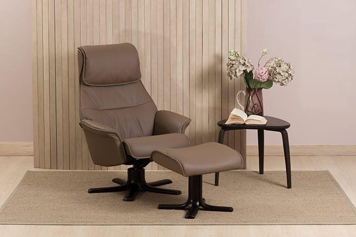 Sienna Relaxsessel mit Hocker schwarz IMG Comfort Fango Espresso