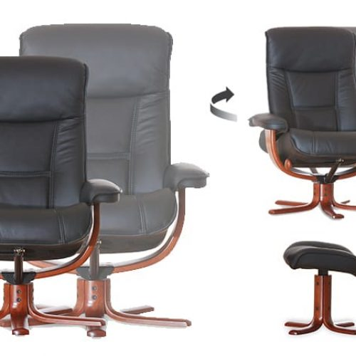 Viking Sessel von IMG Comfort - Relaxsessel mit Hocker   Merz