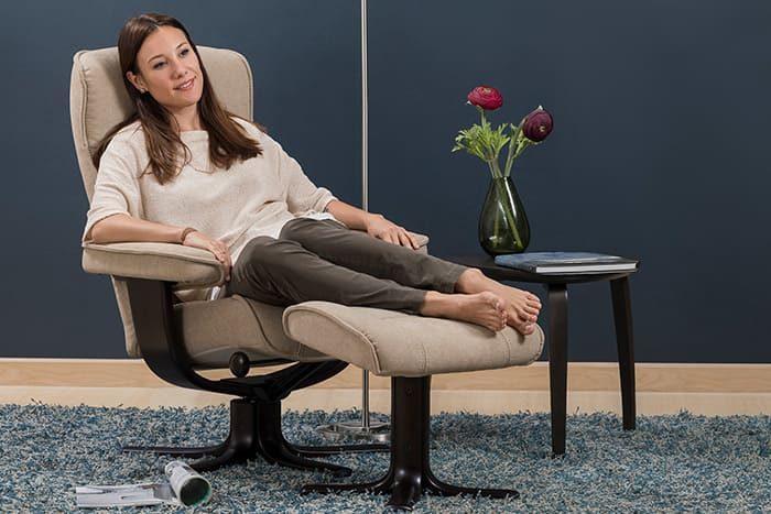 Viking von IMG Comfort - Sessel mit Hocker latte